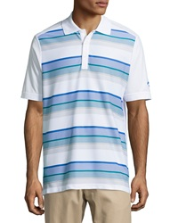 Callaway Energy Striped Polo Shirt Bright White