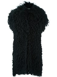 Fendi Lamb Fur Gilet Black