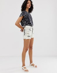 Cheap Monday Organic Cotton Relaxed Shorts With Graphic White