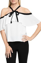 Vince Camuto Women's Ruffle Off The Shoulder Blouse Ivory
