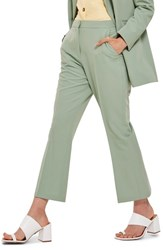 Topshop Cropped Suit Trousers Light Yellow