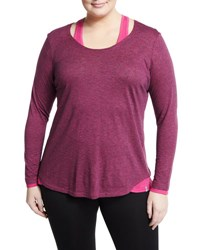 Marc Ny Performance Plus Long Sleeve Twofer Tee Pink