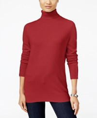 Jm Collection Petites Petite Turtleneck Sweater Only At Macy's New Red Amore