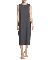 Nic Zoe Wanderlust Sleeveless Shift Midi Dress Washed Ink