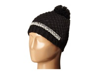 San Diego Hat Company Knh3384 Chunky Stitch Beanie With Faux Gem Details And Pom Pom Black Beanies