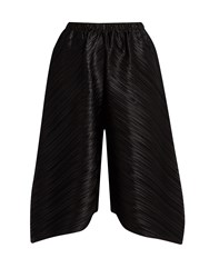 Issey Miyake Triangle Cut Wide Leg Trousers Black