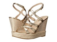 Guess Habbie Gold Leather Women's Wedge Shoes