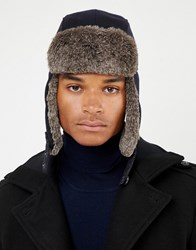 Ted Baker Tetlee Wool Trapper Hat Navy