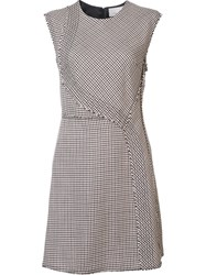 3.1 Phillip Lim Sleeveless Houndstooth Dress Brown
