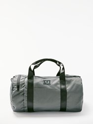 Fred Perry Weave Barrel Bag Grey