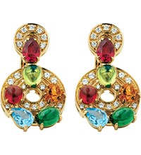 Bulgari Concentrica Colour 18Ct Yellow Gold Gem Stone And Diamond Earrings