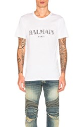 Balmain Logo Tee In White