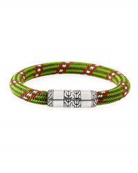 John Hardy Classic Chain Multicolor Cord Bracelet Green