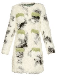 Shrimps Cheryl Spotted Faux Shearling Coat