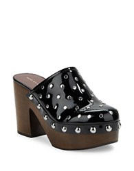 Marc By Marc Jacobs Studded Patent Leather Clogs Black