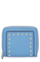 Cole Haan Cassidy Small Rfid Leather Zip Wallet Blue Riverside