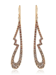 Fabrizio Riva Cognac Earrings Brown Diamond