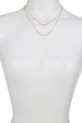 14Th And Union Double Layer Pave Triangle Necklace Metallic