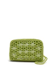 Shrimps Domenica Faux Pearl Embellished Clutch Light Green