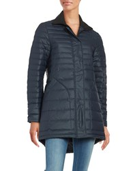 Hunter Water Resistant Quilted Down Coat Navy