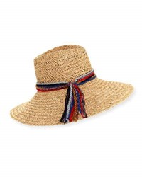Inverni Kathleen Straw Sun Hat Light Brown