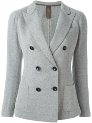 Eleventy Double Breasted Blazer Grey