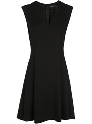 Theory Crepe Pleated Style Dress Black