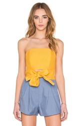 C Meo Making Waves Bustier Top Yellow
