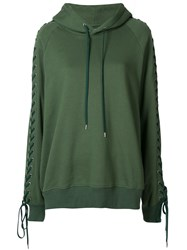 G.V.G.V. Lace Up Hoodie Green