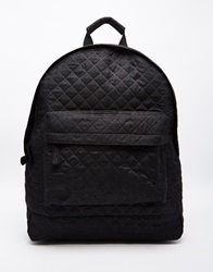 Mi Pac Quilted Backpack In Black
