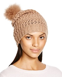 Diane Von Furstenberg Chunky Hat With Fox Fur Pom Pom