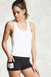 Forever 21 Active Perforated Shorts Black White