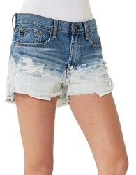 Big Star Cloud 9 Distressed Shorts Blue