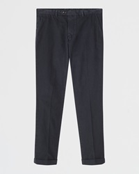 Jigsaw Puppy Tooth Garment Dye Trousers Indigo