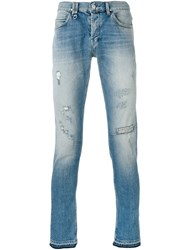 Cycle Light Wash Skinny Jeans Blue