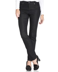 Charter Club Petite Jeans Flawless Stretch Slim Leg Black Tint