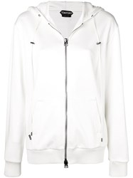 Tom Ford Zip Up Sweatshirt White