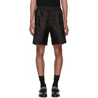 Givenchy Black Logo Shorts 001 Black