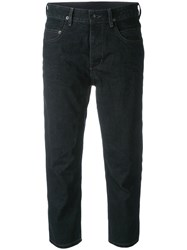 Rick Owens Drkshdw Torrence Cropped Jeans Blue