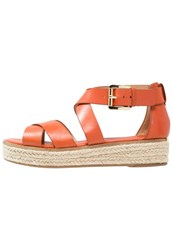 Michael Michael Kors Darby Platform Sandals Orange