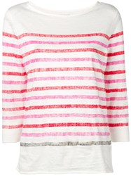 Majestic Filatures Candy Striped Top White