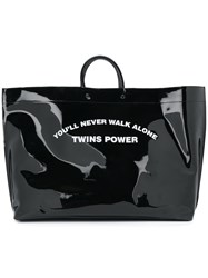 Dsquared2 You'll Never Walk Alone Twins Power Tote Pvc Black