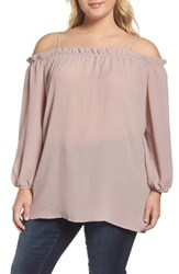 Glamorous Plus Size Women's Off The Shoulder Top Nude