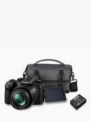 Panasonic Lumix Dc Fz1000 Ii Bridge Camera 4K Ultra Hd 20.1Mp 16X Optical Zoom Wi Fi Bluetooth Oled Viewfinder 3 Touch Screen With Shoulder Bag And Extra Battery Pack Black