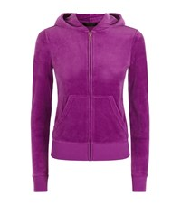 Juicy Couture Collegiate Velour Hooded Sweater Female Purple