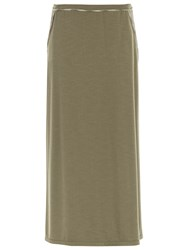 Max Studio Long Jersey Skirt Army Green