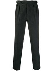 Massimo Alba Straight Leg Tailored Trousers Grey