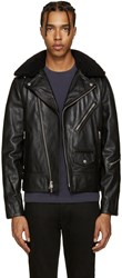 Rag And Bone Black Leather Buzz Jacket