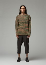 Our Legacy Popover Roundneck Sweater Red Green Smudge Print