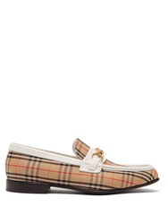 Burberry Moorely Dalston Vintage Check Canvas Loafers White
